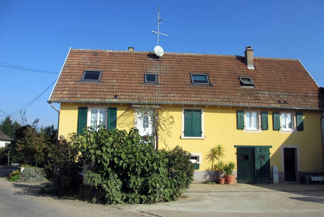 Digel Logement de tourisme Sélestat Alsace maison jaune